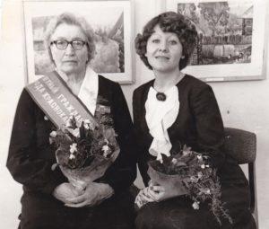 А.Х. Худякова, Г.А. Палкина в гостях у И.И. Морозова в Краснокамской школе искусств. 1979