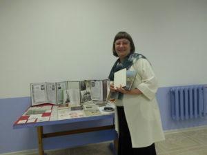 Палкина-Ведова Г.А. в архиве на Дне открытых дверей. Краснокамск. 2015