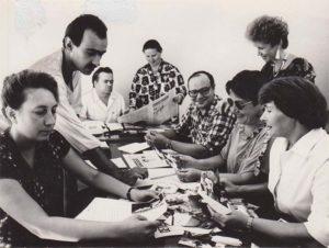 Фотография работников редакции газеты «Краснокамская звезда». [1988]. Ф.110.Оп.1.Д.179