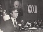 И.А. Мочалов, первый секретарь ГК КПСС выступает с докладом на XXXII городской партийной конференции. 1985. Ф.140.Оп.1.Д.1326