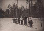 Закрытие зимнего сезона, перед стартом девушек на 3 км. Краснокамск. 1938. Ф.140.Оп.1.Д.56.Л.1