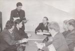 Заседание городского штаба по охране общественного порядка (в центре – В.А. Чудинов). Выступает В.М. Попов, первый заместитель председателя Краснокамского горисполкома. [1970-е] Ф.102.Оп.3.Д.62