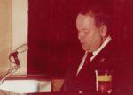 Сессия городского Совета народных депутатов, выступает депутат, председатель горисполкома Чудинов В.А. 1978 Ф.140.Оп.1.Д.532
