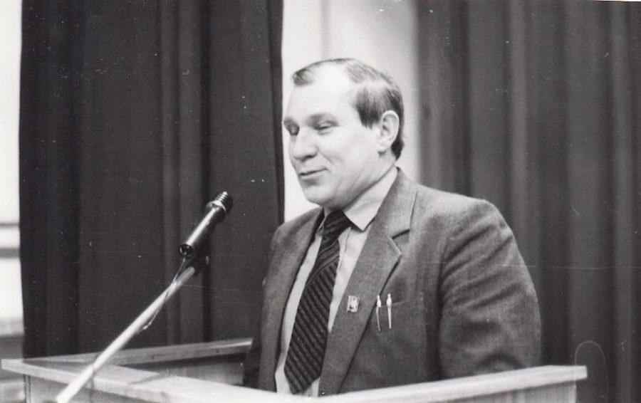 В. М. Ворков выступает с трибуны, 1978 г. Ф.97.Оп.1.Д.17.Л.1